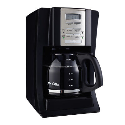 Mr  Coffee Advanced Brew 12 Cup Programmable Coffee Maker Black Chrome