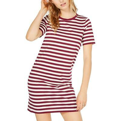 MICHAEL Michael Kors Womens Striped Crew Neck Mini T-Shirt Dress BHFO 8726