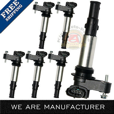 NEW Set of 6 Ignition Coil for Cadillac CTS STS Buick Rendezvous C1508 UF375