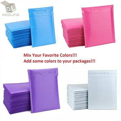 Mix Your Color 50 Poly Bubble Padded Envelopes Mailers 0 6x10 Inner 6x9