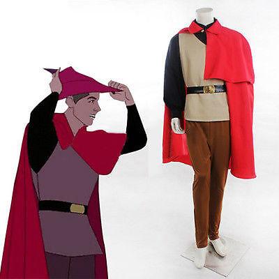 Halloween Sleeping Beauty Prince Phillip Costume Outfit Adult Men NN62  (Phillip Halloween)