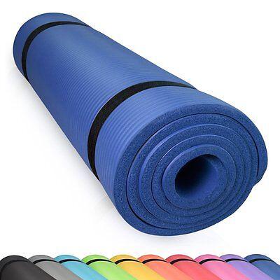 diMio Yogamatte 185 x 60 90cm 10 15mm rutschfest Yoga Pilates Blau Fitness Matte Rutschfest