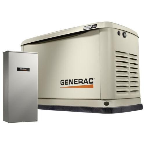 Generac 7037 - 16kW A/C Home Standby Generator w/ WiFi + 200 Amp Switch (HSB)