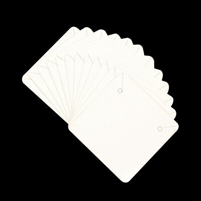 50pcs White Square Necklace Earrings Paper Display Card Diy Jewelry Accessories