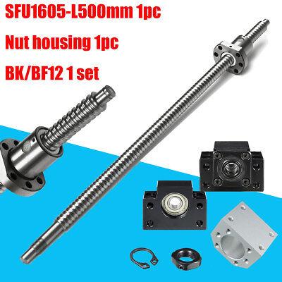 Ball Screw Sfu1605 Rm1605 L500mm End Machined Bkbf12 Ballscrew Nut Housing