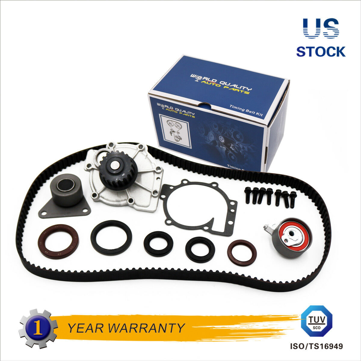 Timing Belt Water Pump Kit For 98 09 Volvo C70 S40 S60 S70 S80 V40 Brand New Fits