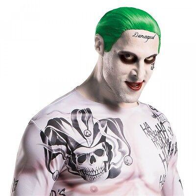 Joker Makeup And Tattoos Suicide Squad Halloween Costume Fancy Dress