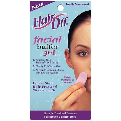 Hair Off 1026W Facial Buffer 3-in-1 Hair Remover Skin Care