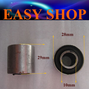 2X 10mm 28mm Swingarm Swing Arm Bushes Quad ATV Dirt Bike Pit Pro Trail Buggy