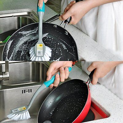 Cleaning Scrub Brush Sink Cleaner Dish Bowl Pot Pan Wash Tool Kitchen Scrubber
