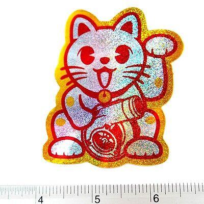 "Turbo Cat Car Racing Reflective Light Sticker 1.25x2.75"" Red"