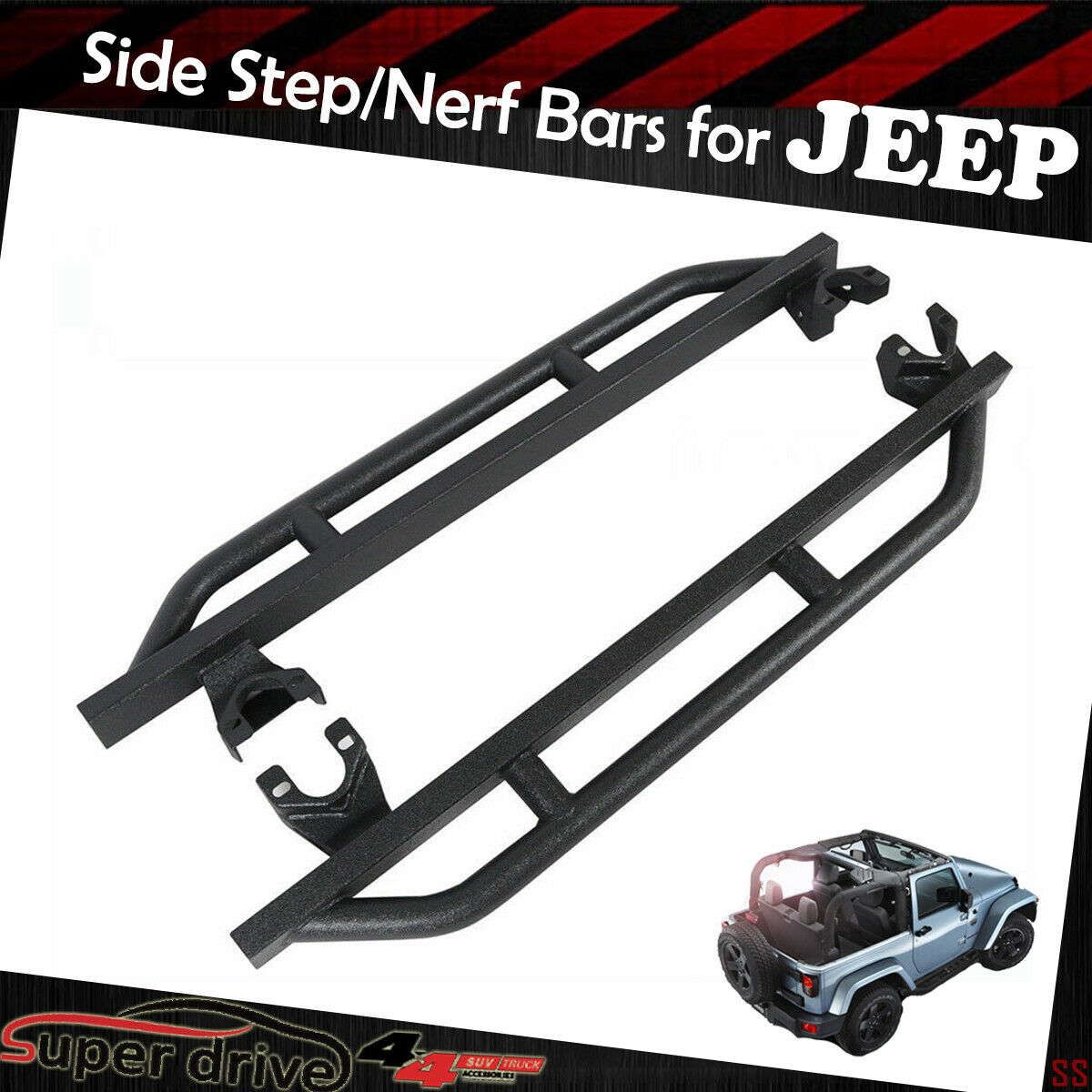 Fit 2018-2019 Jeep Wrangler JL New Body BLK Textured Armor
