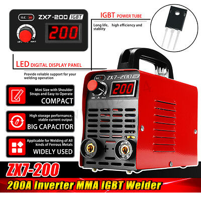 220v Zx7-200 Portable Mma Arc Welder Igbt Welding Machine Soldering Inverter