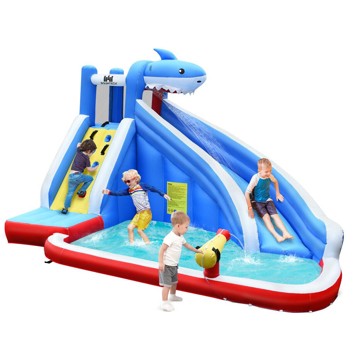 Hüpfburg Wasserrutsche Spielpool, Wasserspielcenter aufblasbar, Planschbecken 39