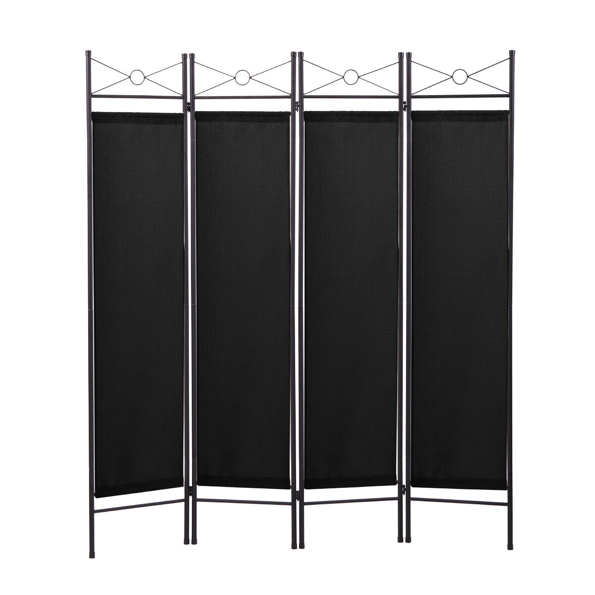 Black 4 Panel Room Divider Privacy Folding Screen Home Offic