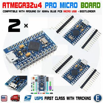 2pcs Atmega32u4 Pro Micro Controller Board For Arduino Pro Micro Usb 5v16mhz