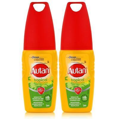 Autan Mückenschutz Tropical Pumpspray 100ml - Bis zu 8h Schutz (2er Pack)