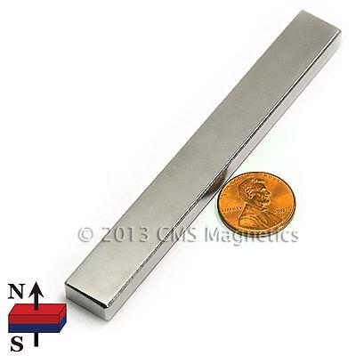 Cms Magnetics Strong N45 Neodymium Long Rectangle Bar Magnet 4x12x14 50-pc