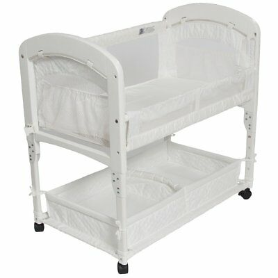 Arm's Reach Cambria Baby Co-Sleeper Bedside Bassinet White