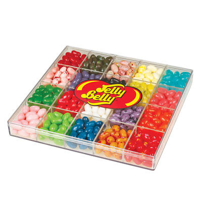Jelly Belly 20 Flavor Candy Jelly Beans Clear Gift Box 16 oz