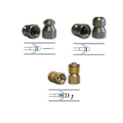 Sewer Jet Drain Cleaner Jetting Nozzle Kit Include Mole Laser Rotating 1 4