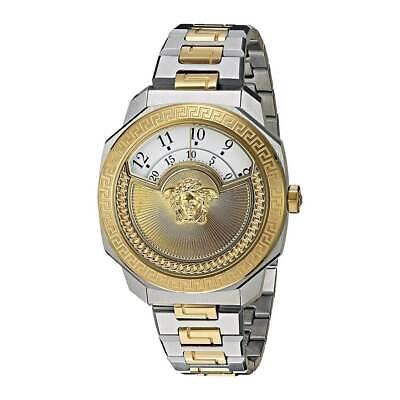 Versace Women's Watch Dylos Icon White and Gold Tone Dial TT Bracelet VQU040015