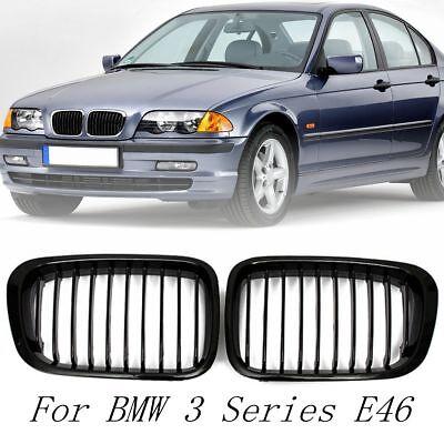 Paar Nieren Kühlergrill Frontgrill Für BMW 3er E46 99-01 4 Tür 323 325 328 330 ()