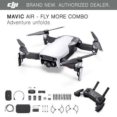 Dji Mavic Air   Arctic White Drone   Fly More Combo   4K Camera