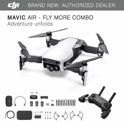 DJI Mavic Air - Arctic White Drone - Fly More COMBO - 4K Camera