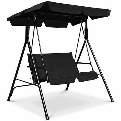 2-Person Adjustable Canopy Swing Sunshade Swing Hammock Seats for Patio Garden
