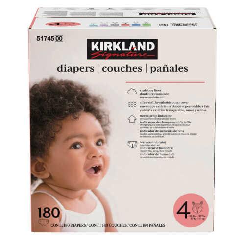 Kirkland Signature Diapers Sizes 4  (22-37 lb/10-17 kg)