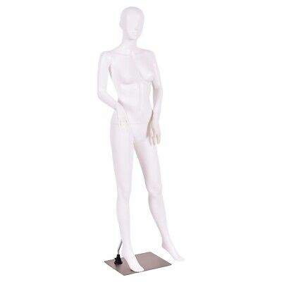 Female Mannequin Egghead No Face Full Size Body Display Base Metal Stand 5.8 Ft