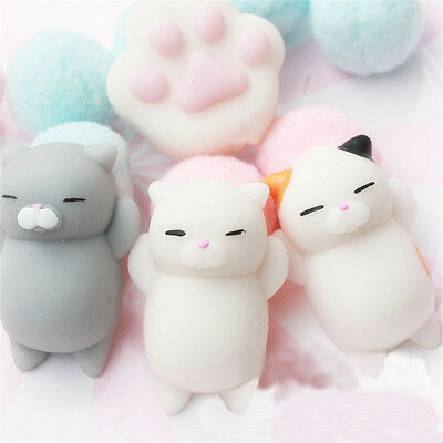 3pcs Lovely Cat Squishy Healing Squeeze Fun Kid Toy Gift Stress Reliever Gifts