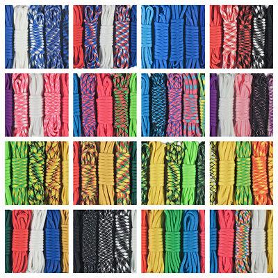 550 Paracord Lot - 5 Colors of Parachute Cord For Survival Bracelets & Lanyards - Parachute Bracelets