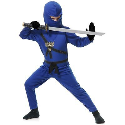 NEW CHARADES Boys Blue Ninja Avengers Series Halloween Costume Sz. L /10-12 ()