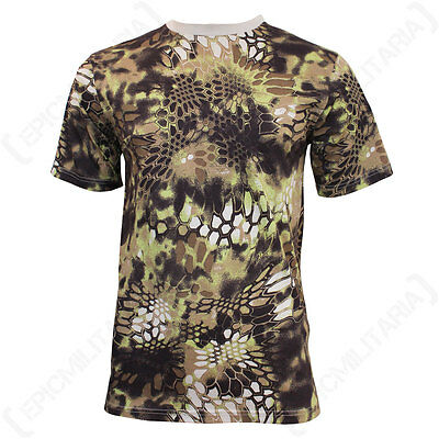 Mandra Tan Camo T-Shirt - Camouflage Military Army Soldier Airsoft Desert New