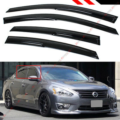 FOR 2013-15 NISSAN ALTIMA SEDAN 3D WAVY STYLE WINDOW VISOR RAIN GUARD DEFLECTOR