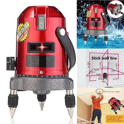 Shockproof Red Laser Level Measure Automatic Self Leveling 5 Line 6 Point 4v1h