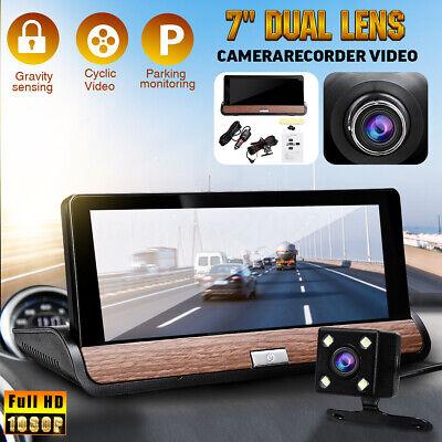 7 In HD Dual Lens Car DVR Camera Recorder Video Dash Cam G-Sensor 1080P 170°
