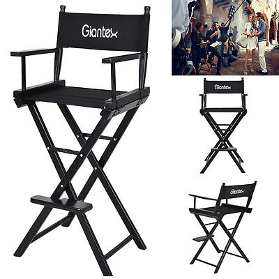 Goplus Black Folding Makeup Artist Directors Chair Salon Make Up Use Portable