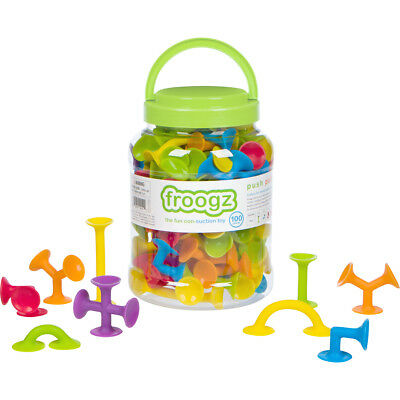 100 Piece Toy - Froogz - 100 Piece Suction Toy Construction Set | Educational Building Kit