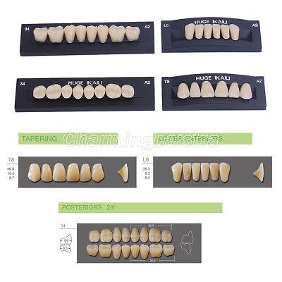 Full Set Kaili Dental Synthetic Polymer Resin Falsefake Teeth Denture Upperlow