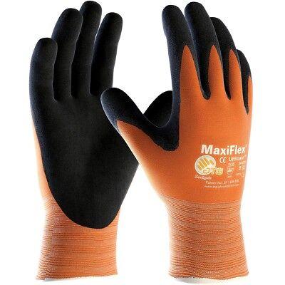 MaxiFlex Ultimate Nitrile Foam Coated Nylon Work Gloves, Orange - Foam Nitrile Gloves