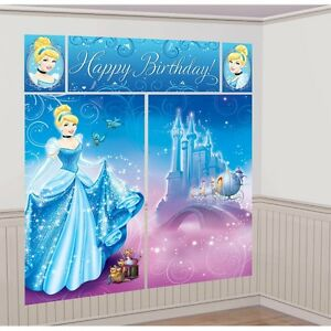 Disney Cinderella Scene Setter Birthday Princess Backdrop Party Wall Decoration Ebay