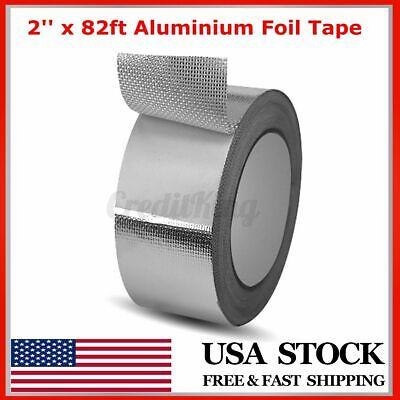 2 X 82ft Fiberglass Aluminium Foil Tape Self Adhesive Leak-sealing Duct Repair
