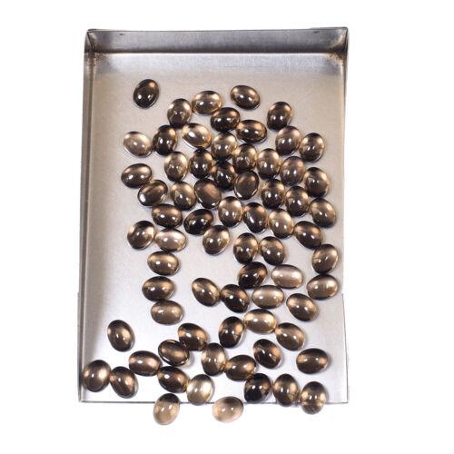 VVS 70 Pcs Natural Smokey Quartz 8mm*6mm Oval Cabochon Top Quality Gemstones Lot