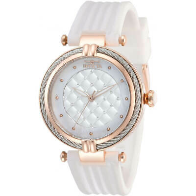 Invicta Women's Watch Bolt Rose Gold Case White Rubber Strap 28946