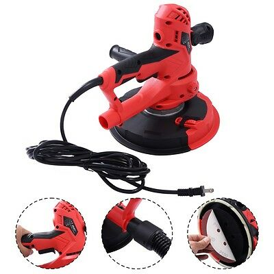 Electric Handheld Drywall Sander 710w Variable Speed With Vacuum Led Light New