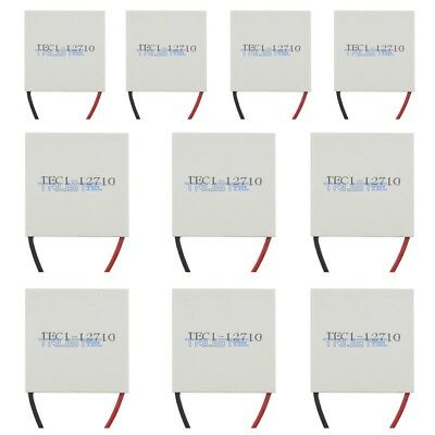 10pcs New 12v Tec1-12710 Heatsink Thermoelectric Cooler Peltier Plate Module .