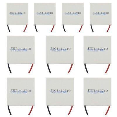10pcs New 12v Tec1-12710 Heatsink Thermoelectric Cooler Peltier Plate Module .